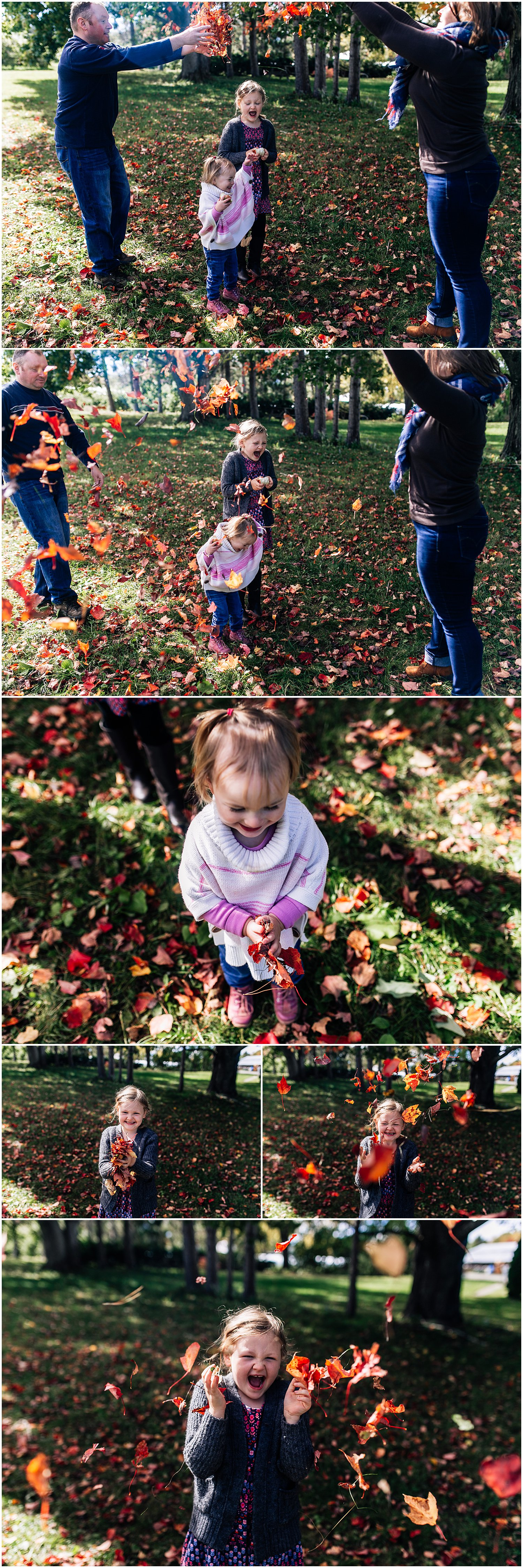 Throwing leaves together